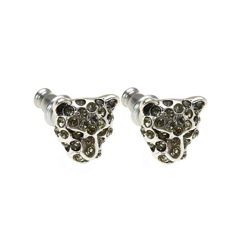Hultquist Leopard Stud Earrings Silver 0016S