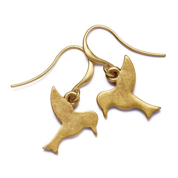 Hultquist Tropical Bird Hook Earrings Gold 0066G