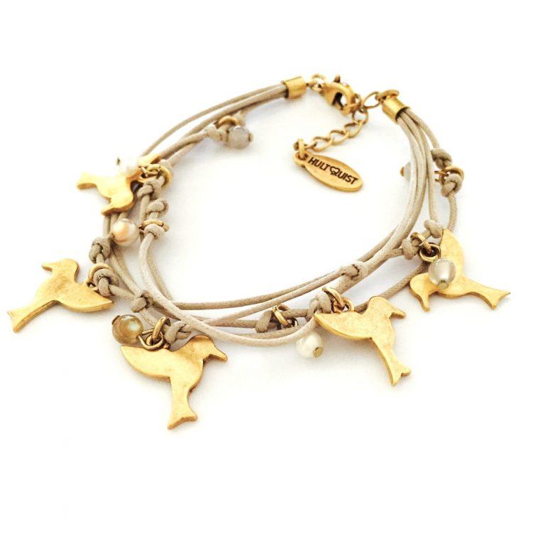 Hultquist Tropical Bird Bracelet Gold 0070G