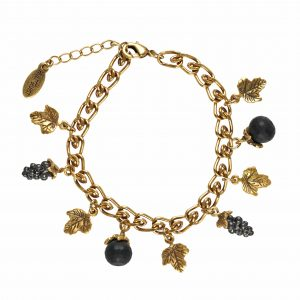 Hultquist Grapes & Wine Bracelet Gold 0186G-B