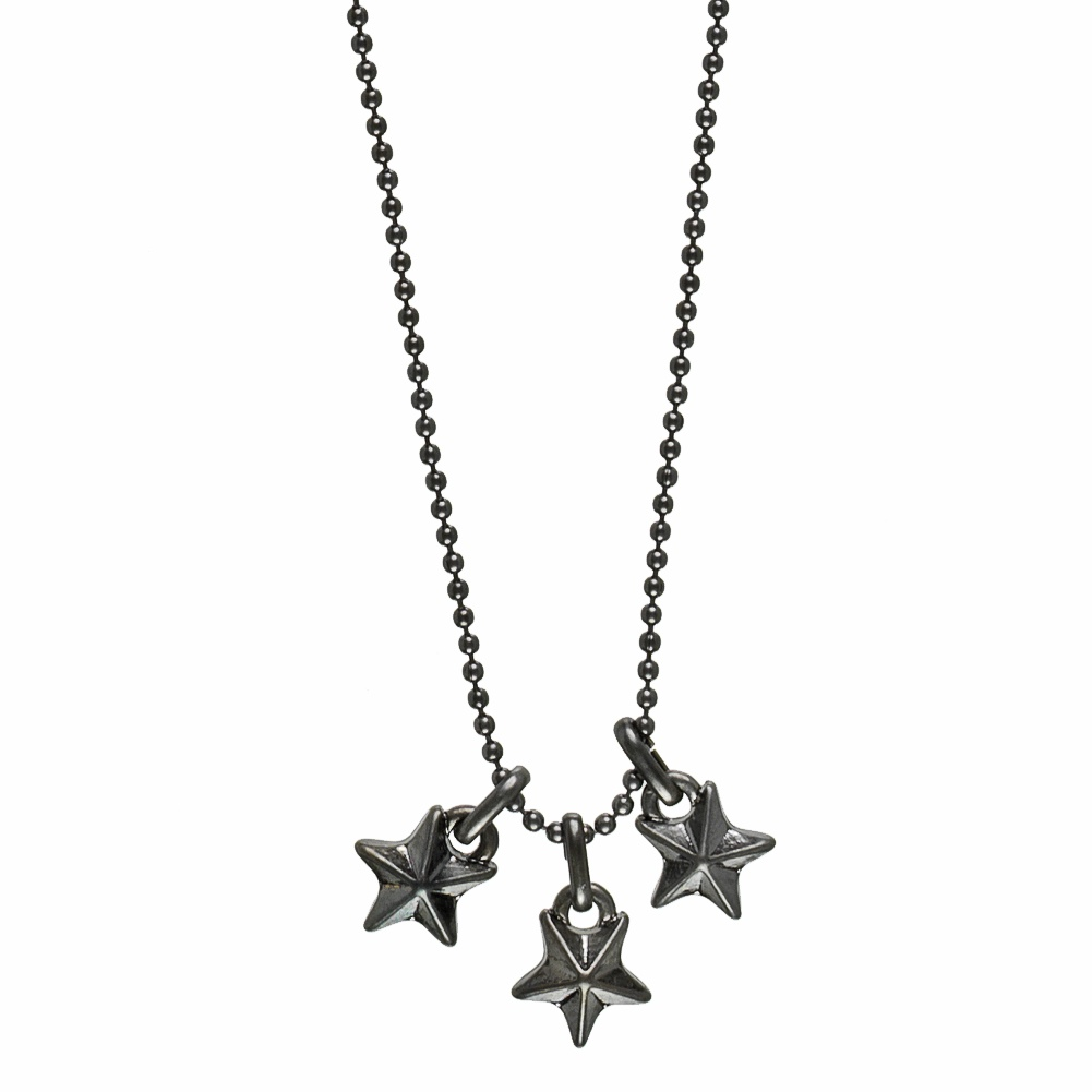 a54fe3366a86b Hultquist Mini Stars Necklace - Hematite