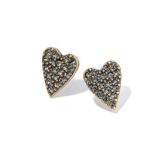 Hultquist Classic Swarovski Heart Stud Earrings Gold