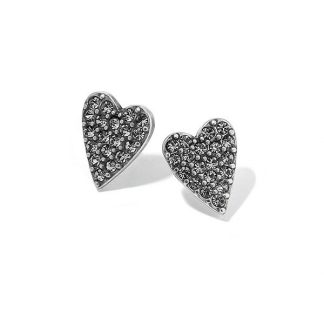 Hultquist Swarovski Heart Earrings Silver