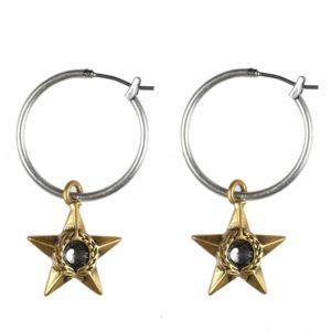Majestic Star Hoop Earrings