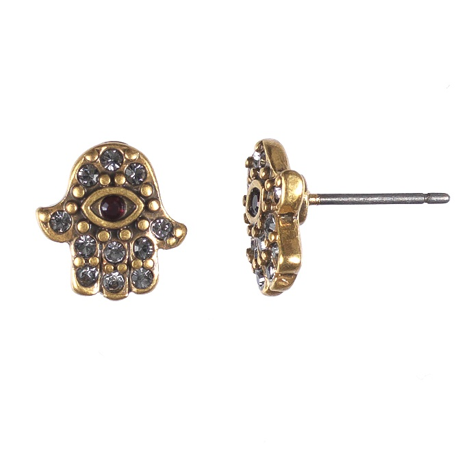Hultquist Hamsa Stud Earrings Gold 0437G-R