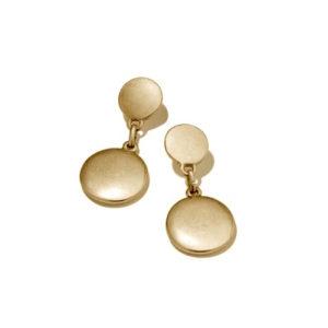 Coin Stud & Drop Earrings - Gold
