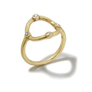 Organic Circle Ring Gold