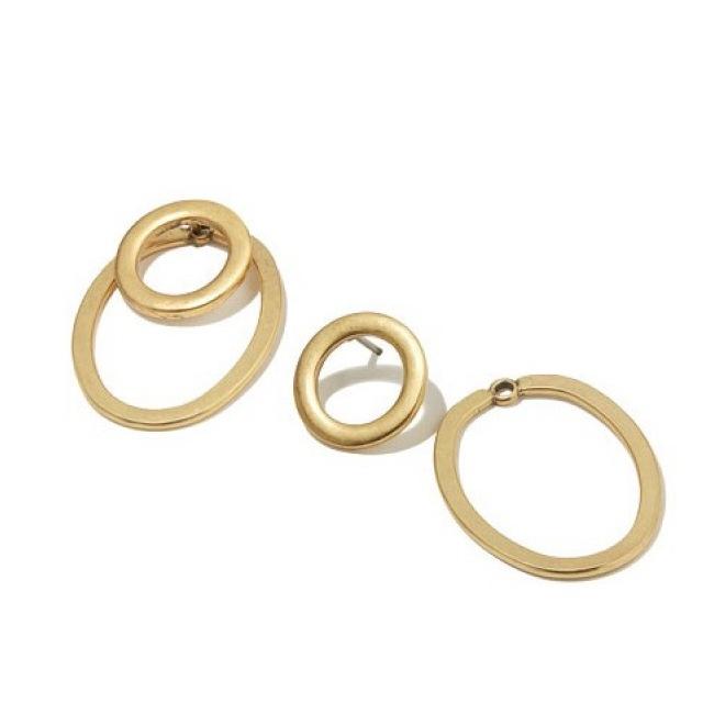 Double Hoop Earrings Gold
