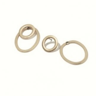 Hultquist Copenhagen Double Hoop Earrings Rose Gold 1114RG