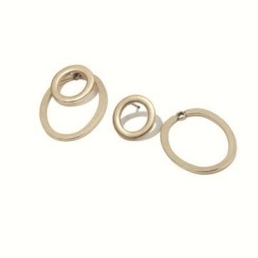 Hultquist Copenhagen Double Hoop Earrings Rose Gold 1114RG