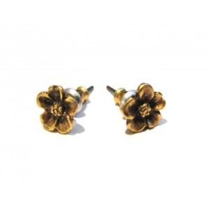 Forest Flower Stud Earrings Gold