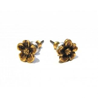Forest Flower Stud Earrings Gold