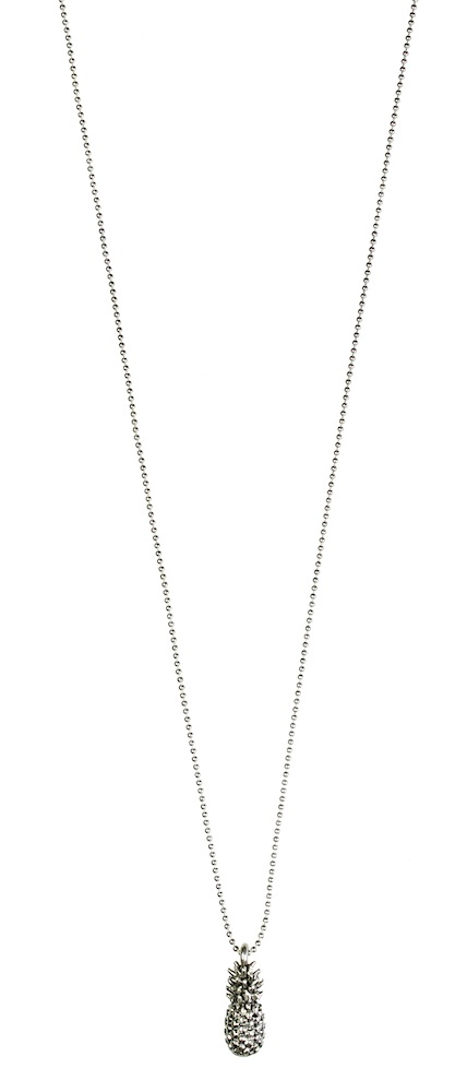 Pineapple Necklace 42cm - Silver