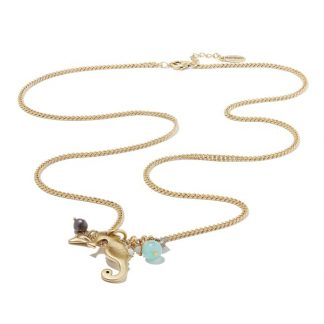 Hultquist Seahorse Long Gold Necklace