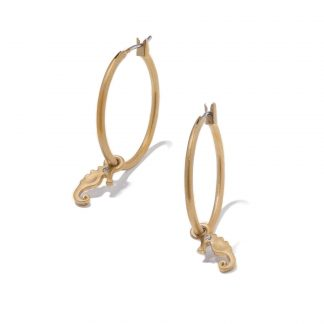 Hultquist Seahorse Hoop Earrings Gold