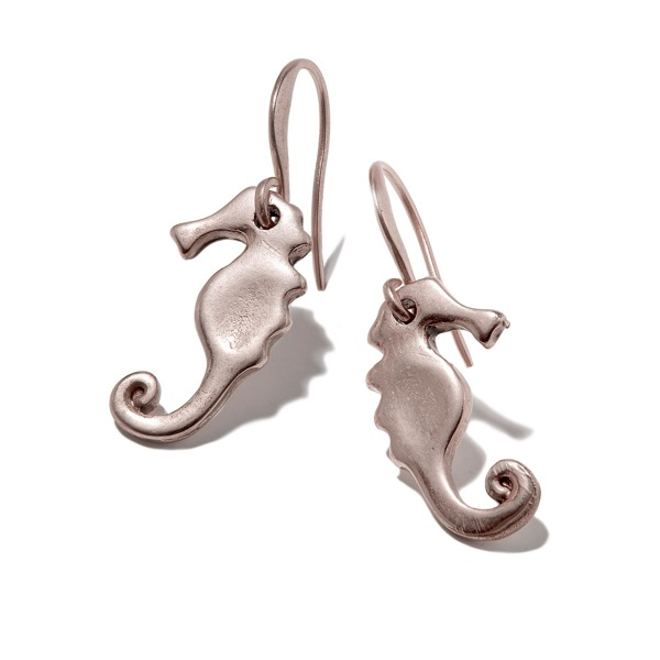 Hultquist Seahorse Hook Earrings Rosegold