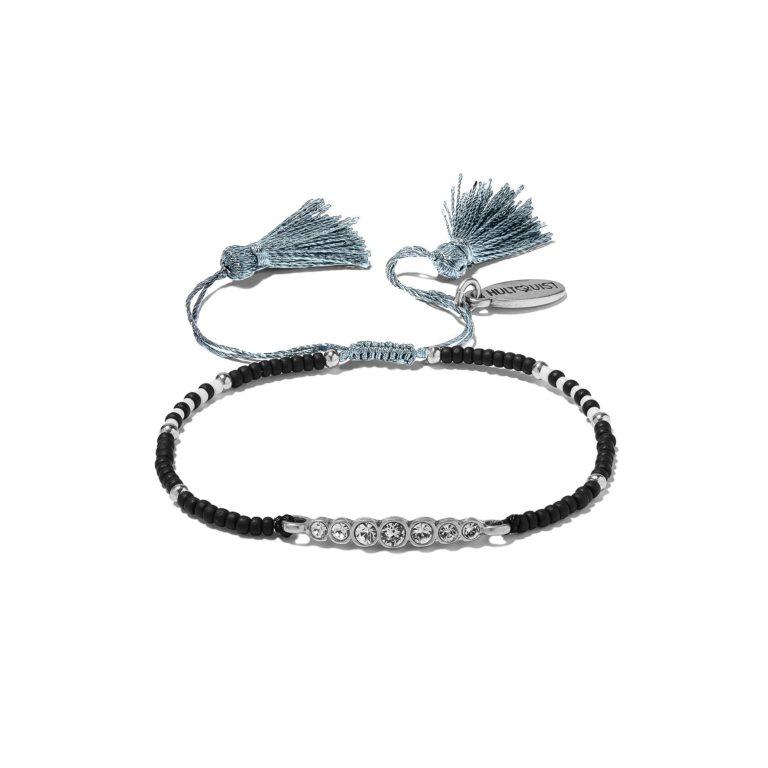 Hultquist Soul Safari Swarovski & Pearl Macrame' Bracelet - Silver