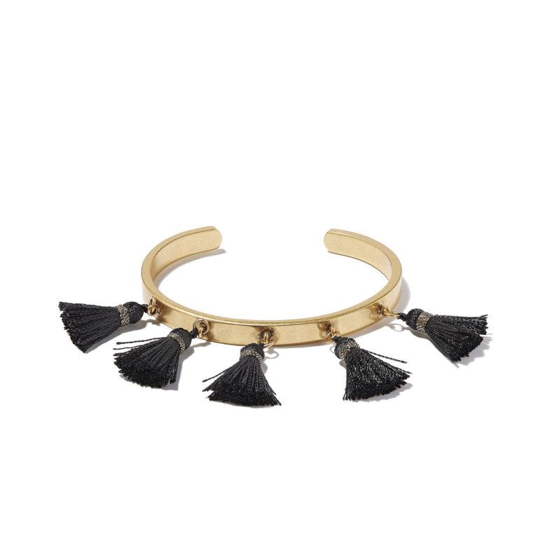 Hultquist Soul Safari Tassel Bangle - Gold