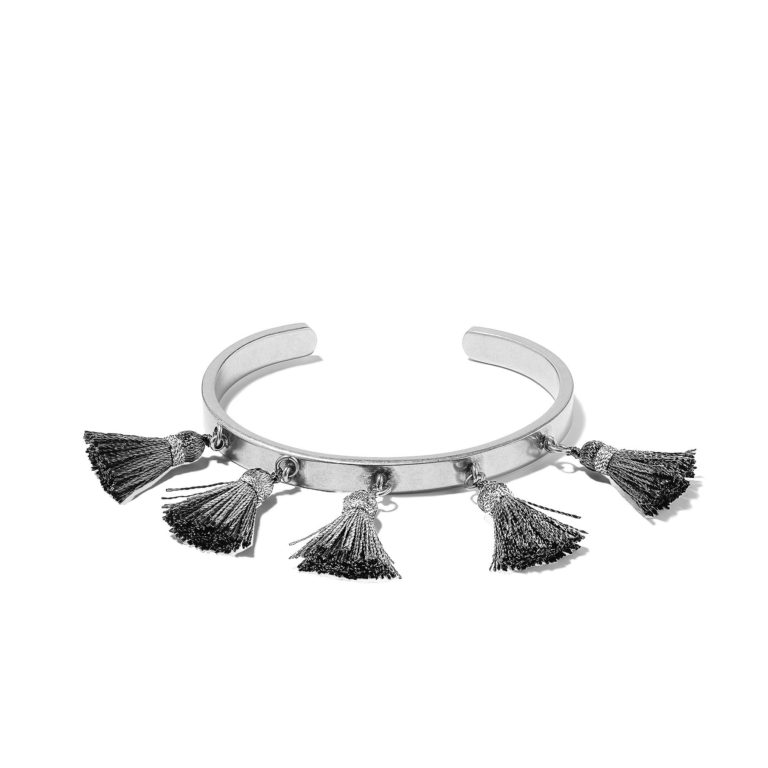 Hultquist Soul Safari Tassel Bangle - Silver