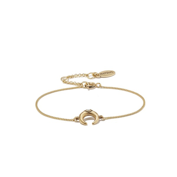 Hultquist Soul Safari Double Horn Bracelet - Gold
