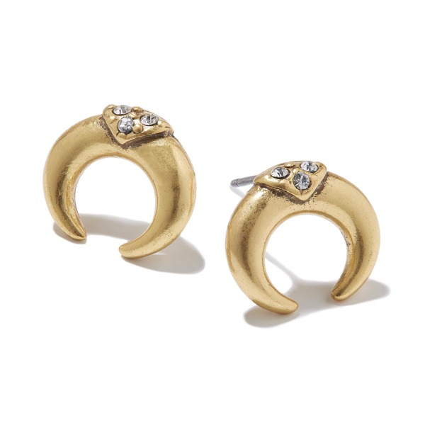 Hultquist Soul Safari Double Horn Stud Earrings - Gold