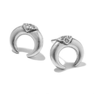 Hultquist Soul Safari Double Horn Stud Earrings - Silver