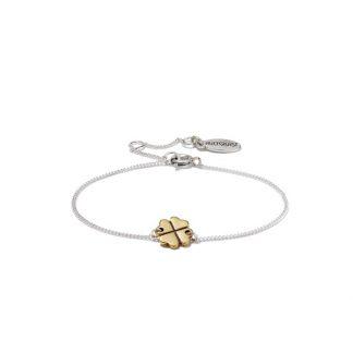 Hultquist Clover Chain Bracelet BiColour