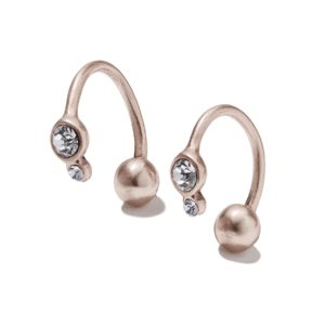 Hultquist Ear Cuffs with Crystals Rose Gold