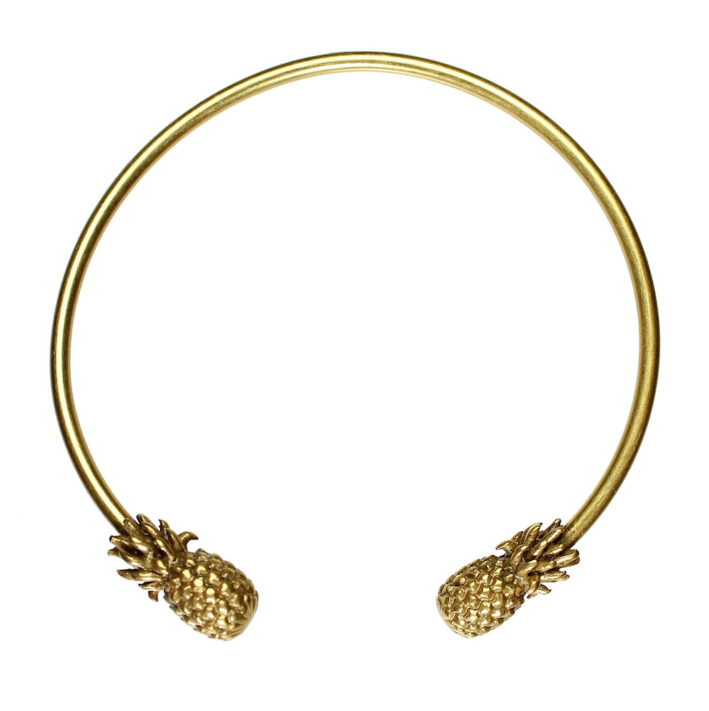 Hultquist Pineapple Bangle Gold