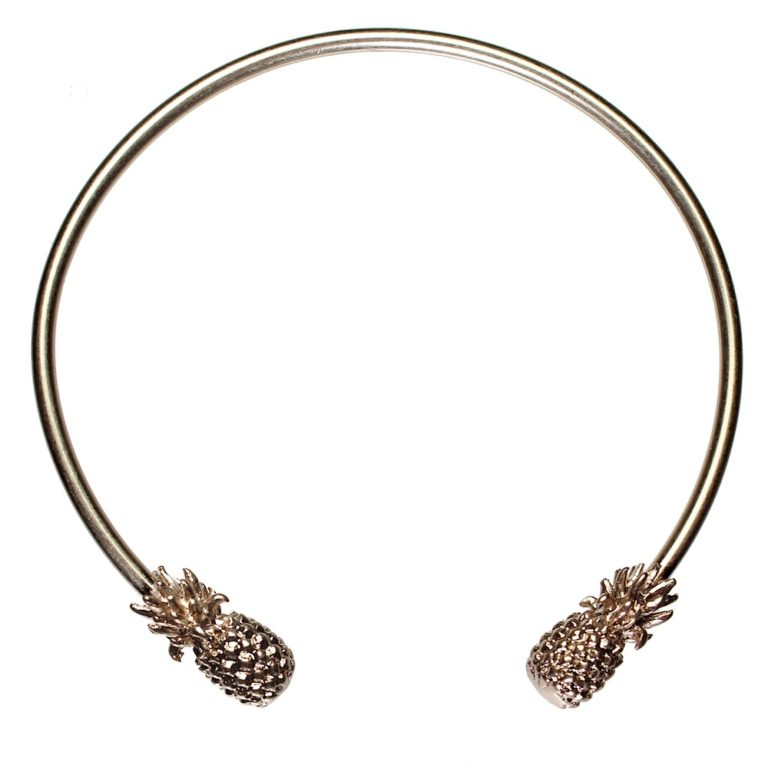 Hultquist Pineapple Adjustable Bangle Rose Gold