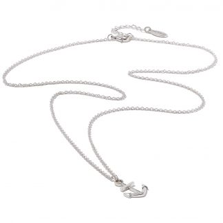 Hultquist Anchor Long Necklace Silver