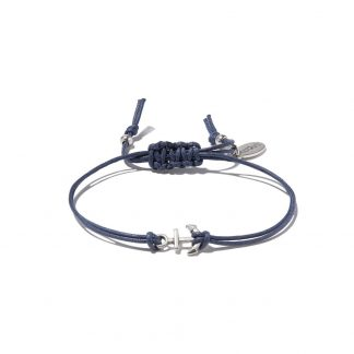 Hultquist Anchor Macrame' Bracelet Blue
