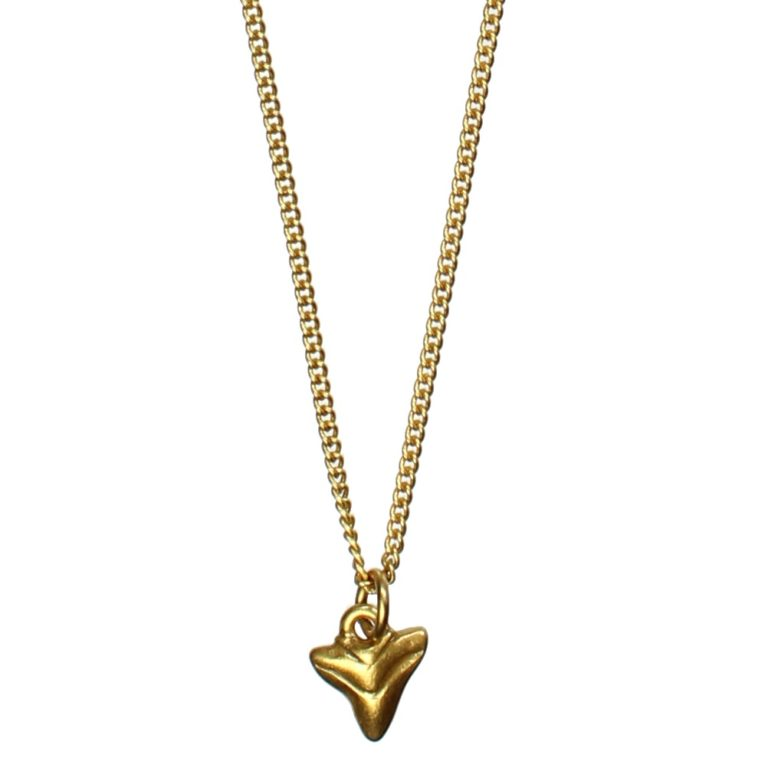 Hultquist Shark Tooth Pendant Necklace Gold