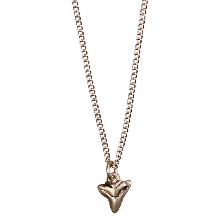 Hultquist Shark Tooth Pendant Necklace Rose Gold