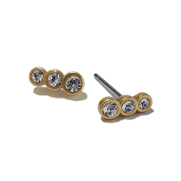 Hultquist Three Wishes Stud Earrings Gold 1177G