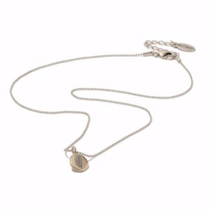 Hultquist Engraved Disc Pendant Necklace Rose Gold