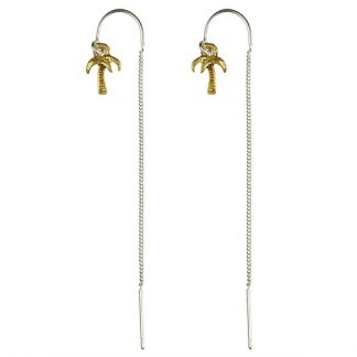 Hultquist Palm Tree Thread Earrings