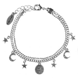 Hultquist Constellation Charm Bracelet Silver 1040S