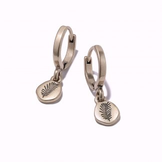 Hultquist Engraved Disc Hoop Earrings 1224RG
