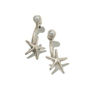 Hultquist Starfish & Pearl Earrings 0908RG