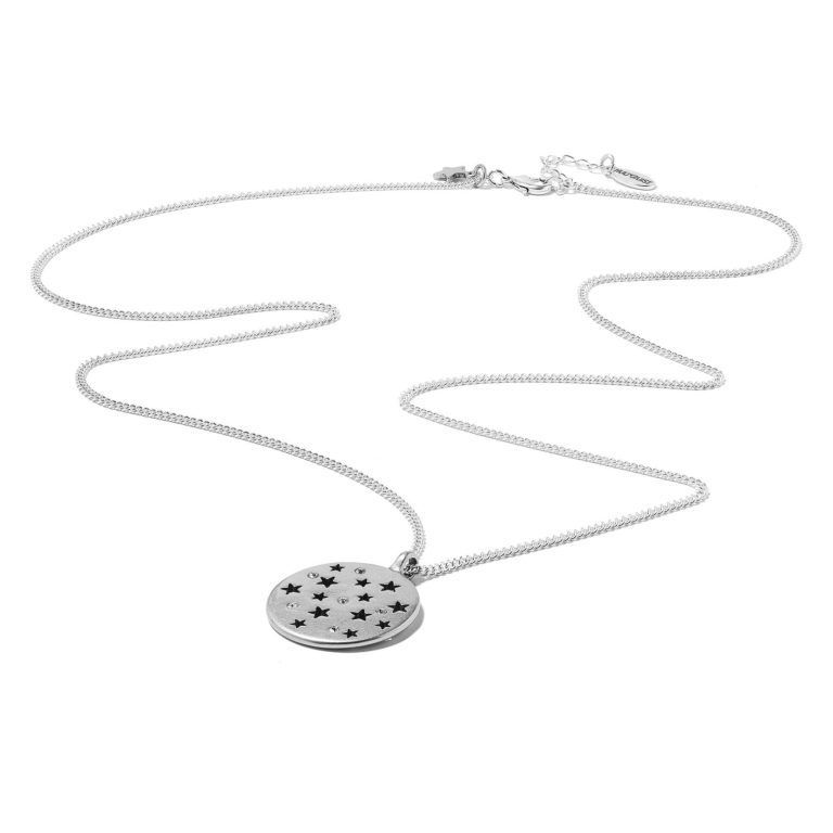 Hultquist Moon & Stars Long Necklace Silver 1292S