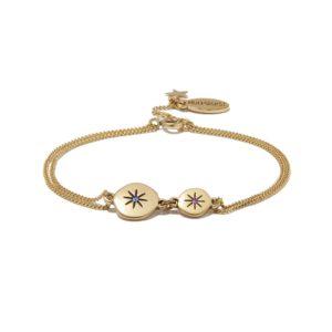 Hultquist Moon & Star Bracelet Gold/Blue 1309G-BL