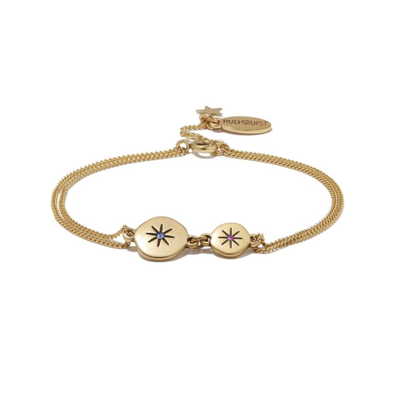 Hultquist Moon & Star Bracelet Gold/Blue 1309G-BL