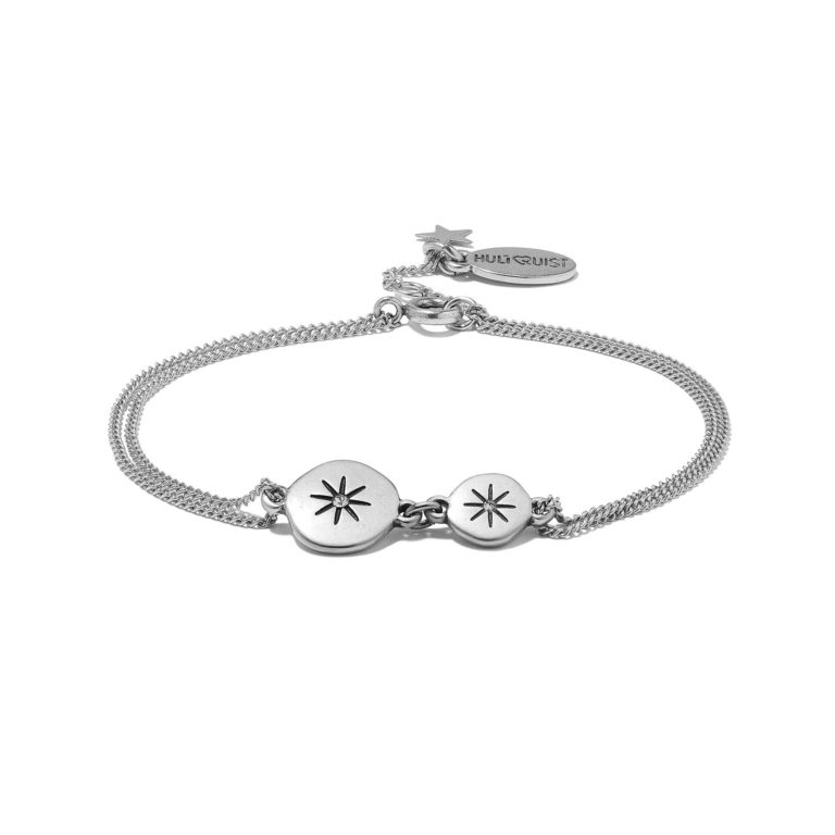 Hultquist Moon & Star Bracelet Silver 1309S