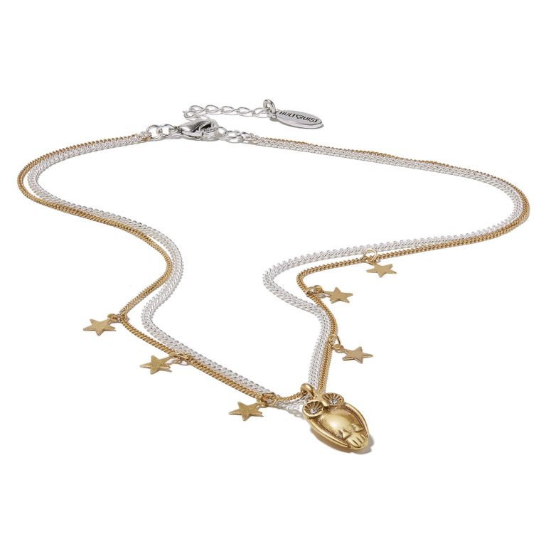 Hultquist Tawny Owl & Stars Necklace BiColour 1317BI