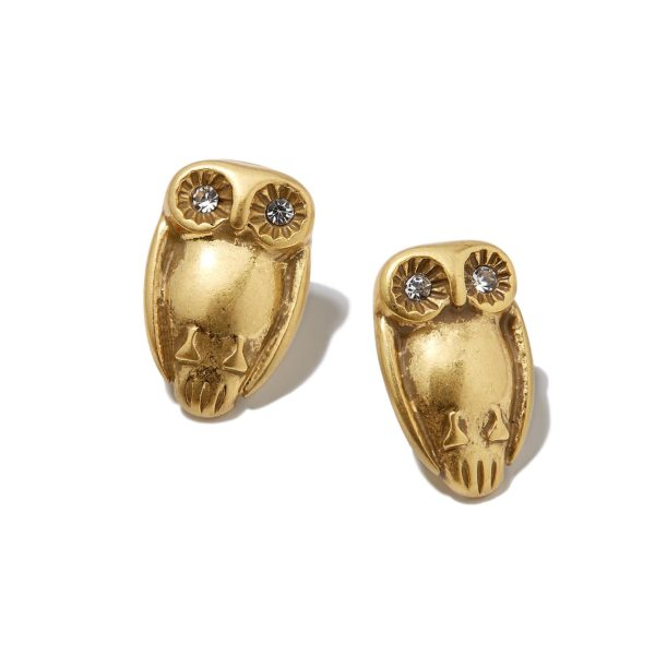 Hultquist Tawny Owl Stud Earrings Gold 1320G