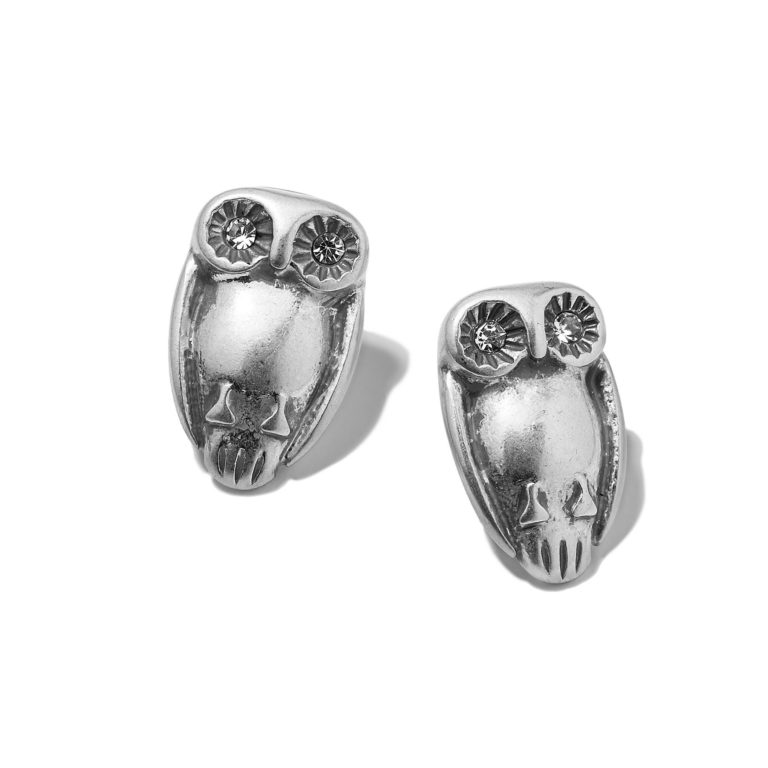 Hultquist Tawny Owl Stud Earrings Silver 1320S