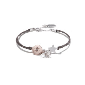Hultquist Moon & Stars Braided Cord Bracelet Rose Gold 1328RG