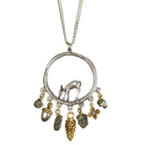 Hultquist Deer & Charms Necklace 1268BI