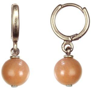 Hultquist Rose Gold Hoop & Rose Stone Drop Earrings 1354RG-RO
